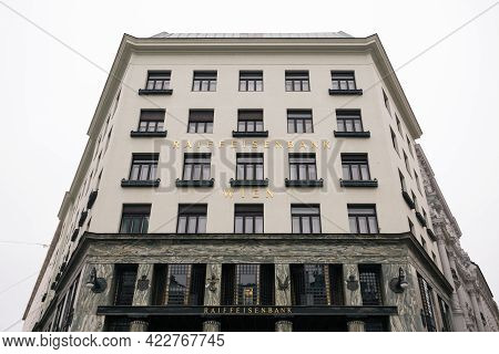Vienna, Austria - Decembter 19 2020: Looshaus Or Loos Haus, A Town House Designed By Modernist Archi