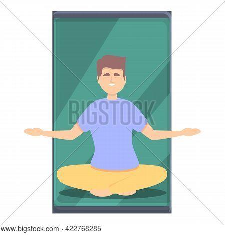 Meditation Fitness Blog Icon. Cartoon Of Meditation Fitness Blog Vector Icon For Web Design Isolated