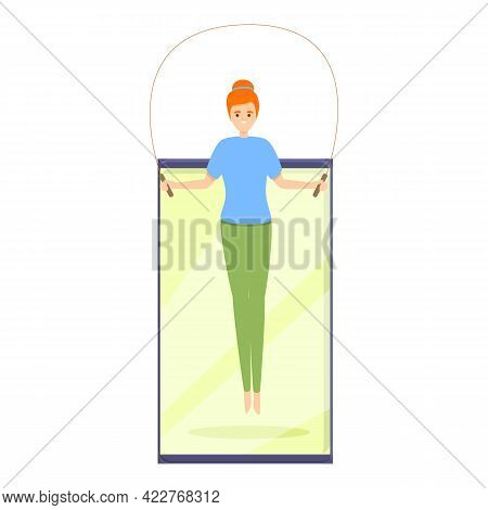 Jump Rope Fitness Blog Icon. Cartoon Of Jump Rope Fitness Blog Vector Icon For Web Design Isolated O