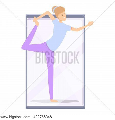 Girl Fitness Blog Icon. Cartoon Of Girl Fitness Blog Vector Icon For Web Design Isolated On White Ba