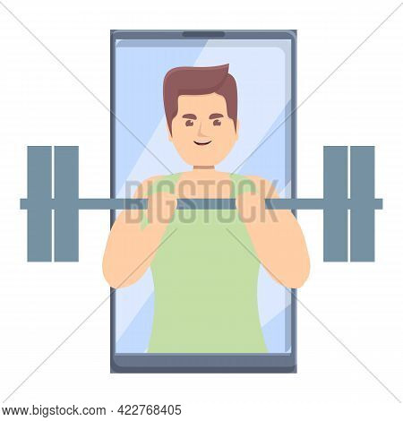 Gym Fitness Blog Icon. Cartoon Of Gym Fitness Blog Vector Icon For Web Design Isolated On White Back