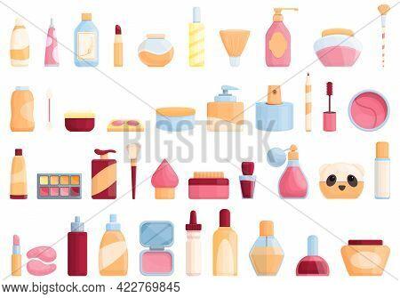 Korean Cosmetics Icon. Cartoon Of Korean Cosmetics Vector Icon For Web Design Isolated On White Back