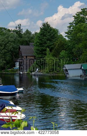 Old House On The Banks Of A Pretty River