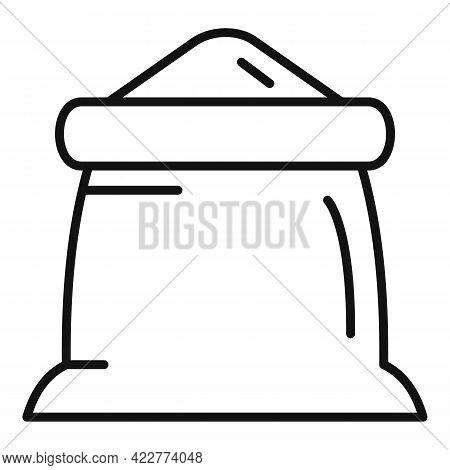 Flour Sack Icon. Outline Flour Sack Vector Icon For Web Design Isolated On White Background