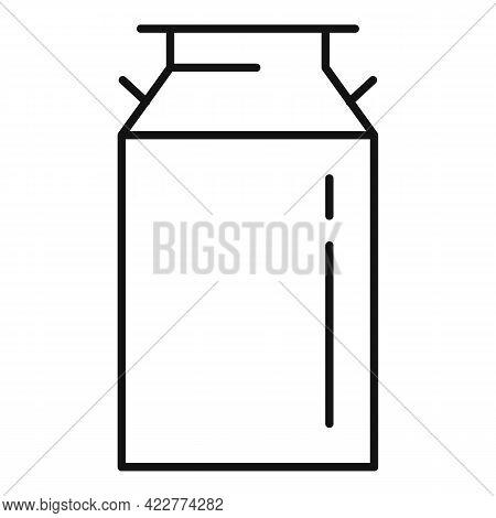 Farm Milk Barrel Icon. Outline Farm Milk Barrel Vector Icon For Web Design Isolated On White Backgro