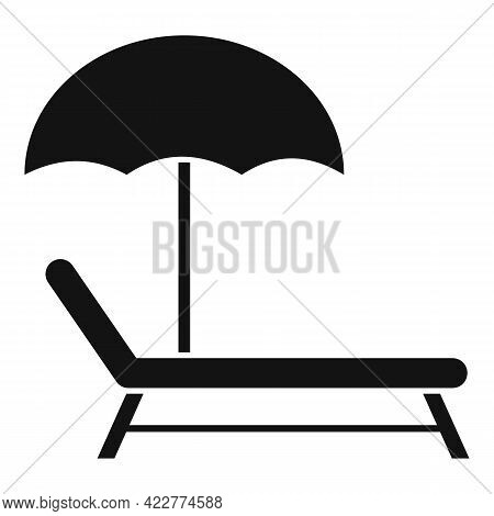 Relax Beach Chair Icon. Simple Illustration Of Relax Beach Chair Vector Icon For Web Design Isolated