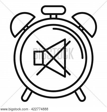 No Alarm Clock Icon. Outline No Alarm Clock Vector Icon For Web Design Isolated On White Background