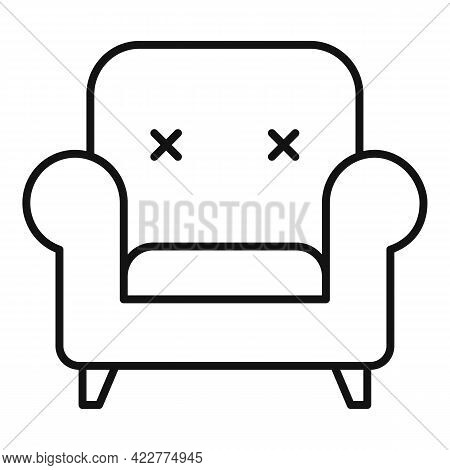 Relax Armchair Icon. Outline Relax Armchair Vector Icon For Web Design Isolated On White Background