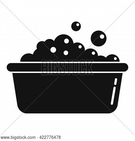 Wash Foam Basin Icon. Simple Illustration Of Wash Foam Basin Vector Icon For Web Design Isolated On