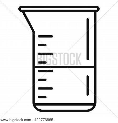 Softener Measurement Pot Icon. Outline Softener Measurement Pot Vector Icon For Web Design Isolated