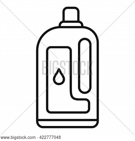Softener Clean Bottle Icon. Outline Softener Clean Bottle Vector Icon For Web Design Isolated On Whi