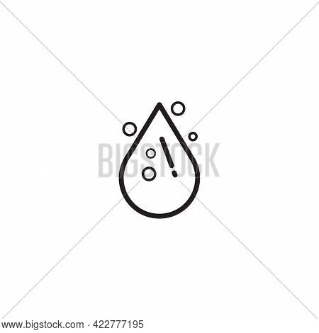 Water Drop Vector Illustration In Monoline Style Isolated On White Background