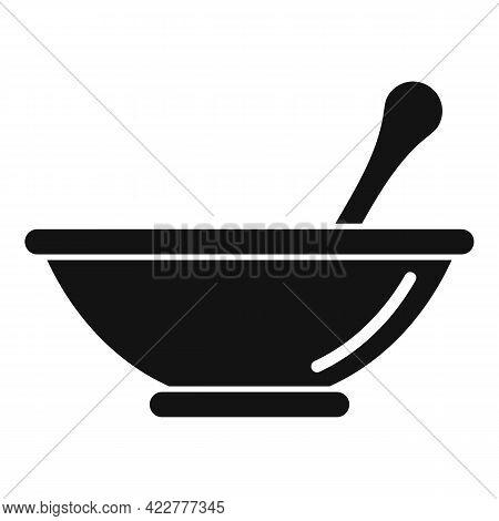 Essential Oils Bowl Mix Icon. Simple Illustration Of Essential Oils Bowl Mix Vector Icon For Web Des