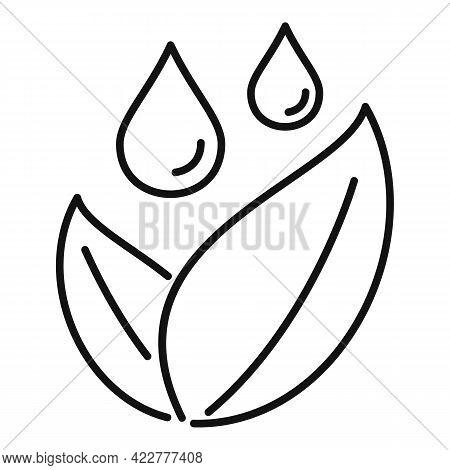 Essential Oils Leaf Plant Icon. Outline Essential Oils Leaf Plant Vector Icon For Web Design Isolate