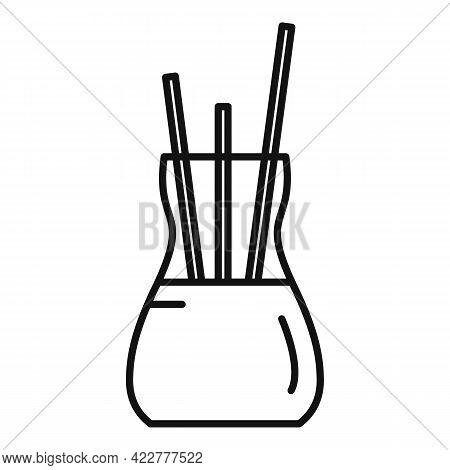 Essential Oils Sticks Icon. Outline Essential Oils Sticks Vector Icon For Web Design Isolated On Whi