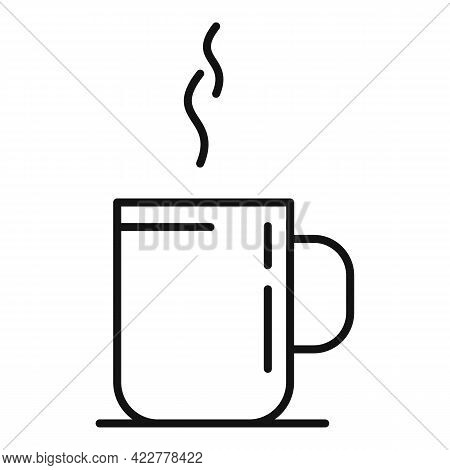 Home Office Coffee Mug Icon. Outline Home Office Coffee Mug Vector Icon For Web Design Isolated On W