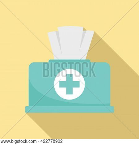 Disinfection Wipes Icon. Flat Illustration Of Disinfection Wipes Vector Icon For Web Design