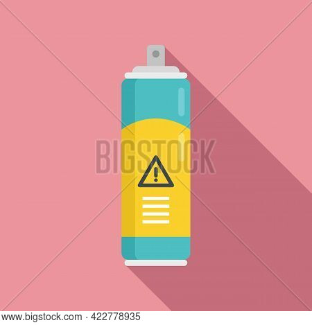 Disinfection Danger Spray Icon. Flat Illustration Of Disinfection Danger Spray Vector Icon For Web D