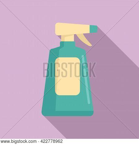 Disinfection Plastic Bottle Icon. Flat Illustration Of Disinfection Plastic Bottle Vector Icon For W
