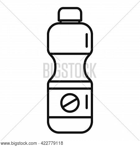 Disinfection Bleach Icon. Outline Disinfection Bleach Vector Icon For Web Design Isolated On White B