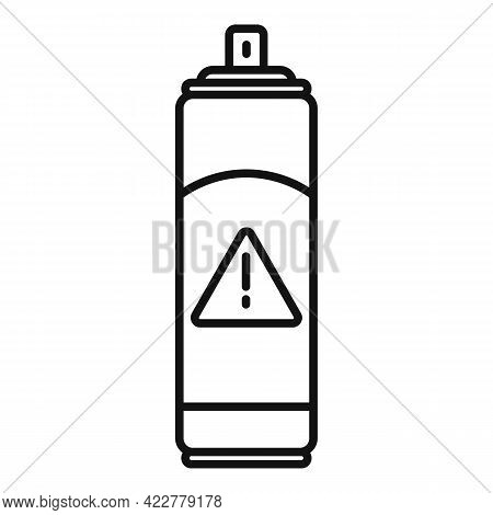 Disinfection Danger Spray Icon. Outline Disinfection Danger Spray Vector Icon For Web Design Isolate