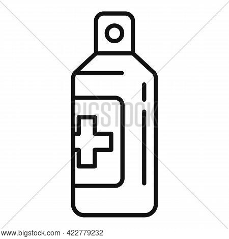 Disinfection Medical Spray Icon. Outline Disinfection Medical Spray Vector Icon For Web Design Isola