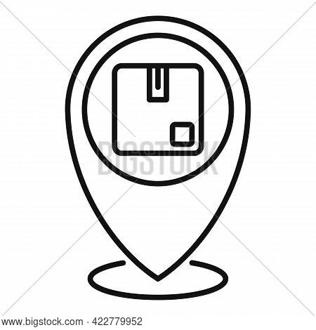 Tracking Parcel Home Delivery Icon. Outline Tracking Parcel Home Delivery Vector Icon For Web Design