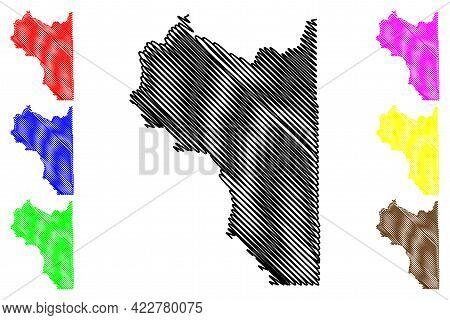 Wasatch County, State Of Utah (u.s. County, United States Of America, Usa, U.s., Us) Map Vector Illu