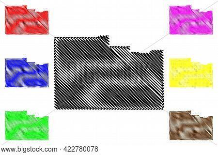 Washington County, State Of Utah (u.s. County, United States Of America, Usa, U.s., Us) Map Vector I
