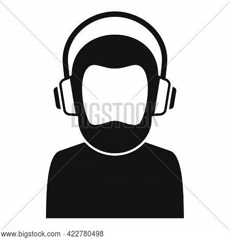 Podcast Speaker Icon. Simple Illustration Of Podcast Speaker Vector Icon For Web Design Isolated On