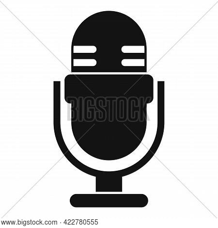 Podcast Home Microphone Icon. Simple Illustration Of Podcast Home Microphone Vector Icon For Web Des