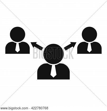 Outsource Business Icon. Simple Illustration Of Outsource Business Vector Icon For Web Design Isolat