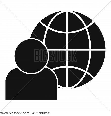Outsource Global Icon. Simple Illustration Of Outsource Global Vector Icon For Web Design Isolated O