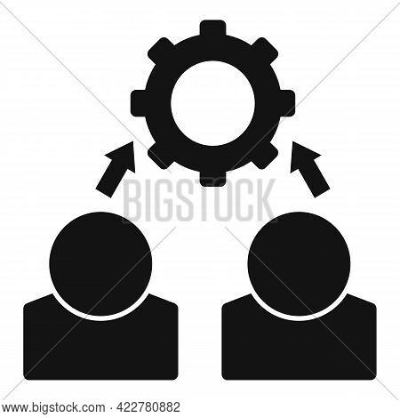 Outsource Programmer Icon. Simple Illustration Of Outsource Programmer Vector Icon For Web Design Is