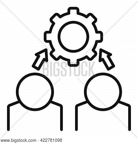 Outsource Programmer Icon. Outline Outsource Programmer Vector Icon For Web Design Isolated On White
