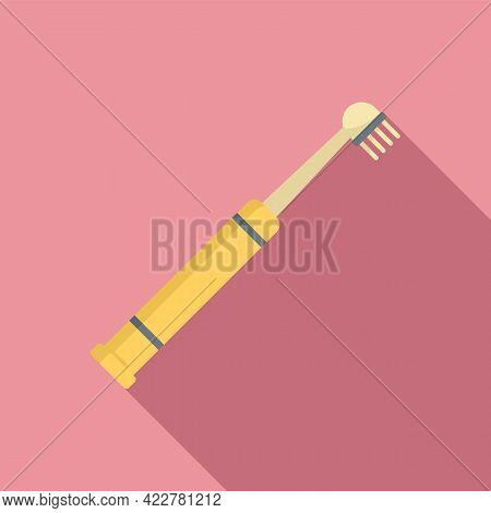 Electric Toothbrush Bristle Icon. Flat Illustration Of Electric Toothbrush Bristle Vector Icon For W