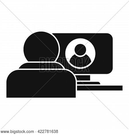 Personal Video Call Icon. Simple Illustration Of Personal Video Call Vector Icon For Web Design Isol