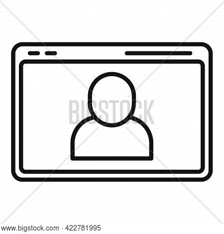 Web Site Video Call Icon. Outline Web Site Video Call Vector Icon For Web Design Isolated On White B