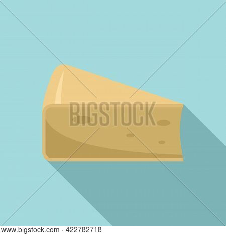 Cheese Parmesan Icon. Flat Illustration Of Cheese Parmesan Vector Icon For Web Design