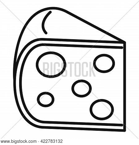 Cheese Fresh Icon. Outline Cheese Fresh Vector Icon For Web Design Isolated On White Background