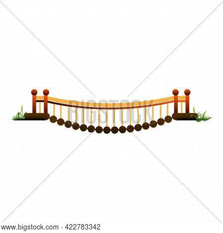 Town Bridge Icon. Cartoon Of Town Bridge Vector Icon For Web Design Isolated On White Background