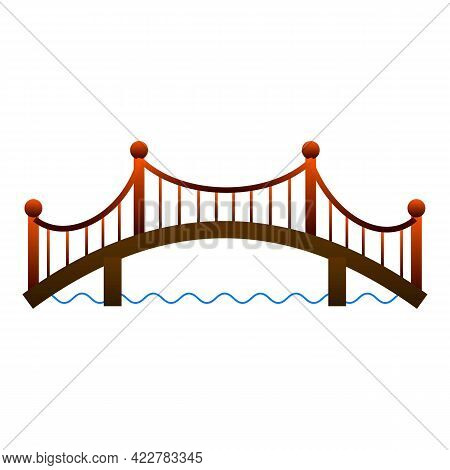 Architecture Bridge Icon. Cartoon Of Architecture Bridge Vector Icon For Web Design Isolated On Whit