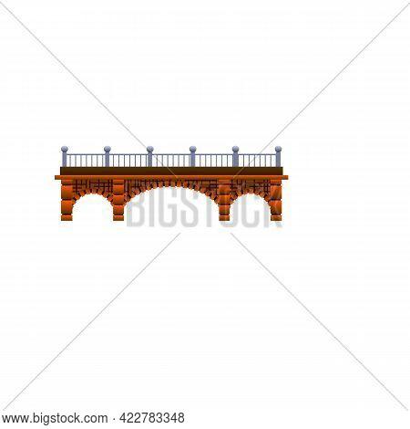 Brick Bridge Icon. Cartoon Of Brick Bridge Vector Icon For Web Design Isolated On White Background