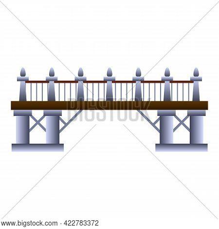 Modern Bridge Icon. Cartoon Of Modern Bridge Vector Icon For Web Design Isolated On White Background