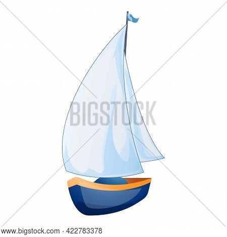 Yacht Icon. Cartoon Of Yacht Vector Icon For Web Design Isolated On White Background