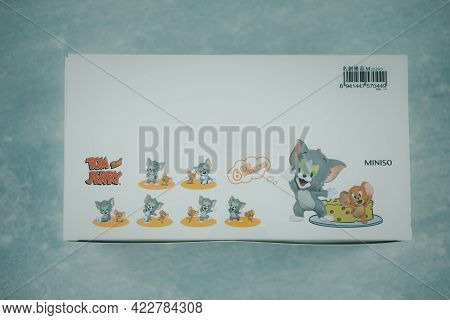 Samut Prakan, Thailand - June 5, 2020 : The New Figure Toy In Box, Collection Of Tom & Jerry I Love