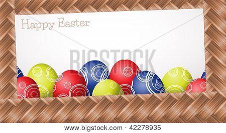 Wicker Easter Card