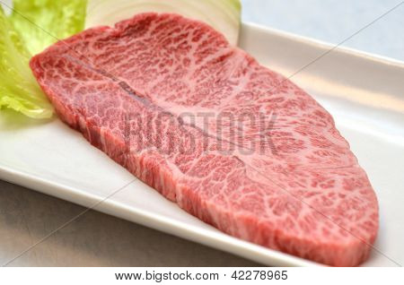 Japanese meat called Misuji