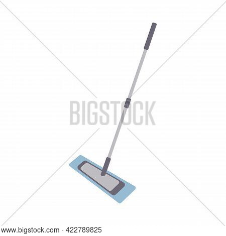 Flat Cleaning Item, Fiber Mop For Cleaning And Mopping. Manual Mop With Fiber Icon. Can Be Used As A