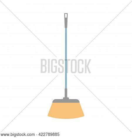 Long Handle Broom Icon. Can Be Used As A Symbol Or Sign. Cleaning Service Concept. Stock Vector Illu